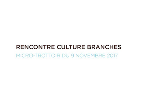 Rencontre CULTURE <br/>BRANCHES du 9 novembre <br/>2017 : micro-trottoir